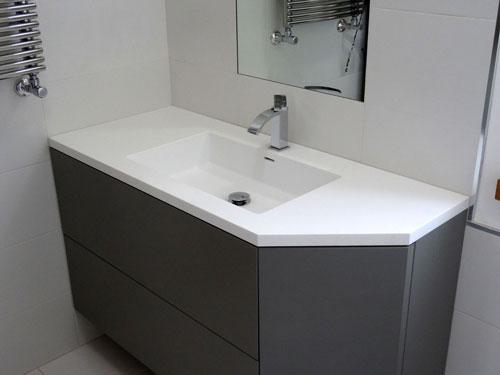 top da bagno in corian a napoli, esempi di lavabi e lavelli in ... - Arredo Bagno Corian