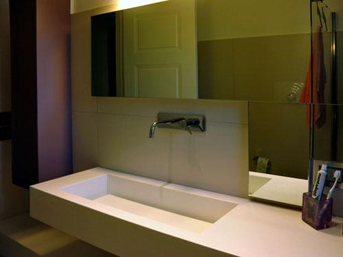 Top da bagno in corian a Napoli, esempi di lavabi e lavelli in Corian costruiti su misura