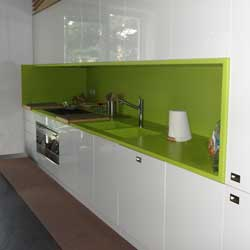 Top cucina in Corian verde green grape